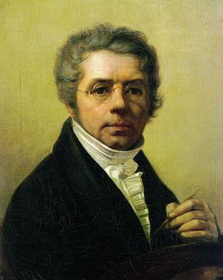 Alexey Gavrilovich Venetsianov. Self portrait (version II)