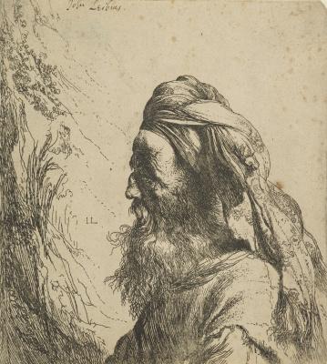 Jan Livens. Portrait of man in turban