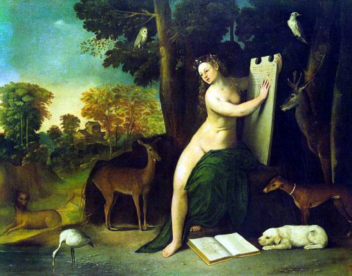 Dosso Dossi. Nude and animals