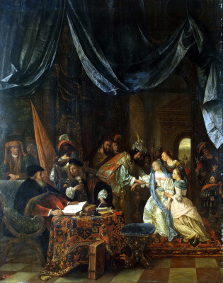 Jan Steen. Esther before Ahasuerus