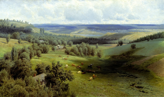 Nikolay Aleksandrovich Sergeev. Summer landscape