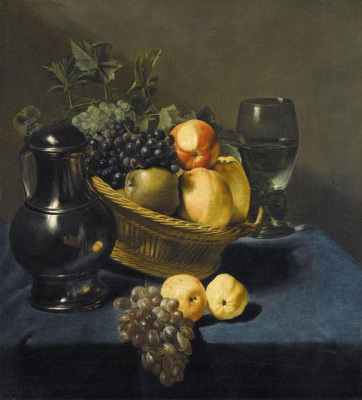Judith Leyster. Still life with apples and grapes