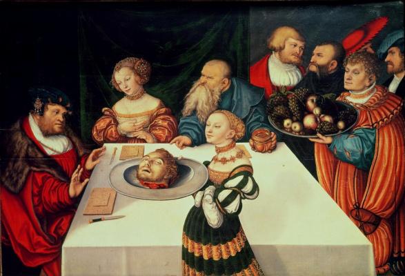 Lucas Cranach the Elder. The Feast Of Herod