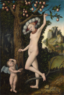 Lucas Cranach the Elder. Venus and Cupid stealing honey