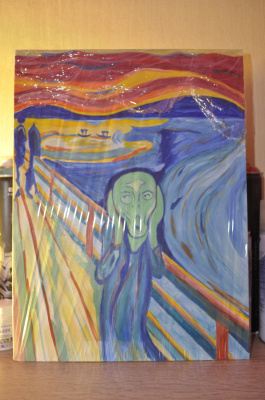 Anton Bashkov. Edvard Munch scream №1 Remake 2018 ART +painting`s
