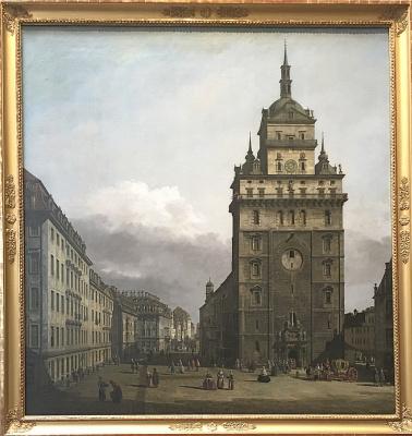 Polina Dutysheva. Bernardo Bellotto gen.Canaletto Church of the Holy Cross in Dresden c. 1751
