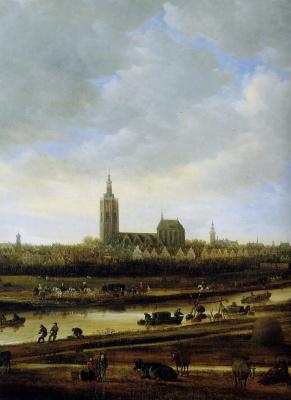 Ян ван Гойен. Вид Гааги с юго-востока (фрагмент)