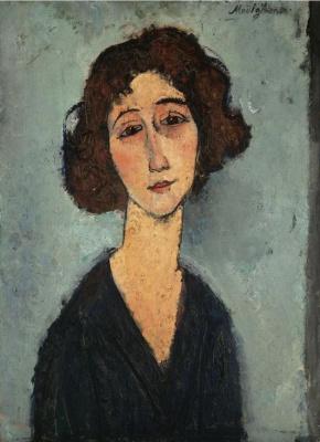Amedeo Modigliani. Portrait of a smiling girl
