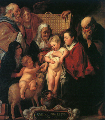 Якоб Йорданс. Святая семья