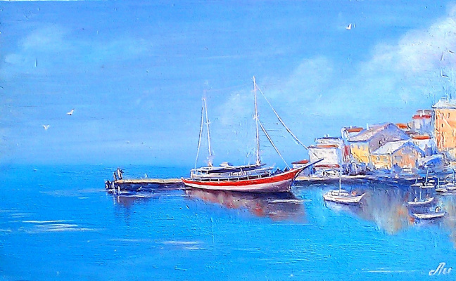 Lydia Lee. Yacht at the pier