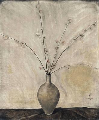 Zuguharu Fujita (Léonard Fujita). Fleurs de cerisier