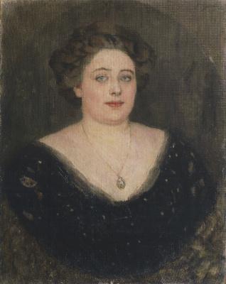 Vasily Ivanovich Surikov. Portrait of O. M. Velichkina, nee Baroness von Klodt Klodt von