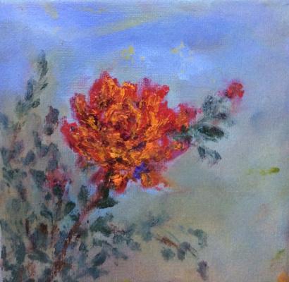 """Rita Arkadievna Beckman. Series - """"Portraits of Favorite Flowers"""" - Rose"""