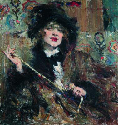 Nikolay Feshin. Portrait of Mademoiselle Podbelskoy