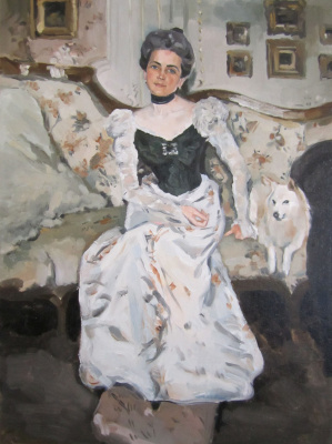 (no name). Copy of the portrait of Princess Yusupova V. Serov (academic work)