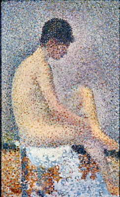 Georges Seurat. Seated Nude brunette