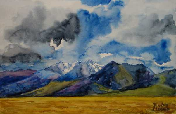 Larissa Lukaneva. The Chuya steppe. Kurai ridge.