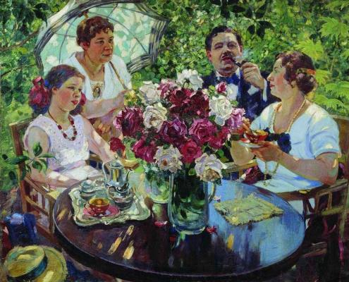 Alexander Mikhailovich Gerasimov. Family portrait