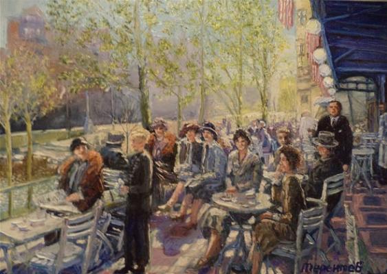 Evgeny Vladimirovich Terentyev. Koenigsberg. Summer cafe