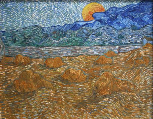 Винсент Ван Гог. Вечерний пейзаж с восходящей луной
