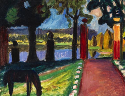 Gabriele Münter. Evening at the lake