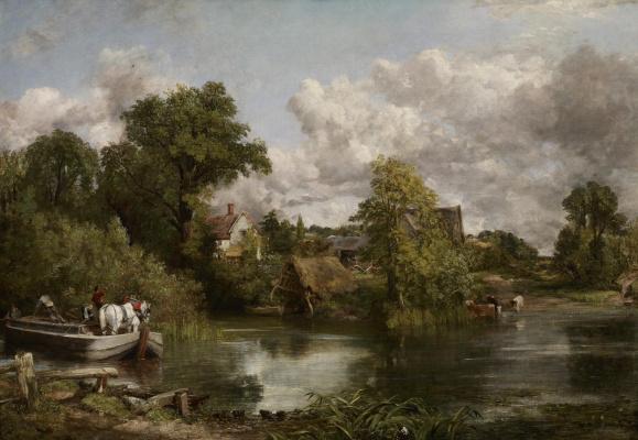 John Constable. White horse near a pond