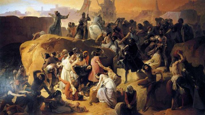 Francesco Ayets. Crusaders near Jerusalem