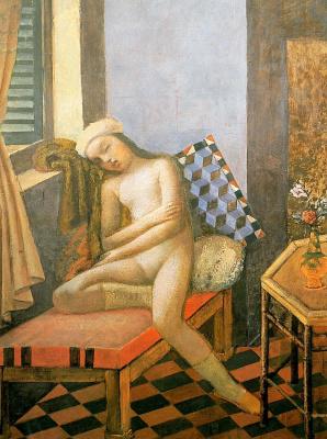 Balthus (Balthasar Klossovsky de Rola). Midday dream (Sleeping Nude)
