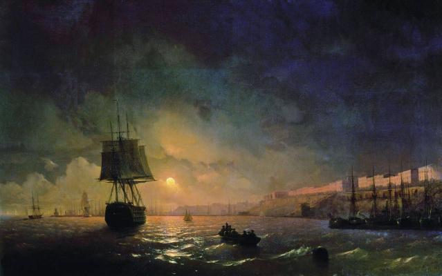 Вид Одессы в лунную ночь