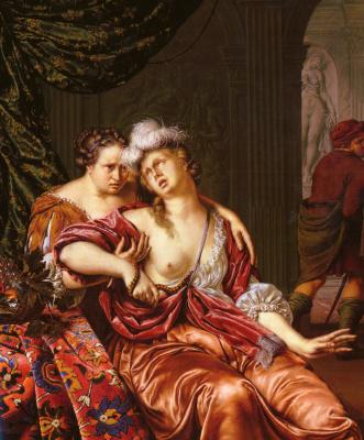Willem van Mieris. The Death Of Cleopatra
