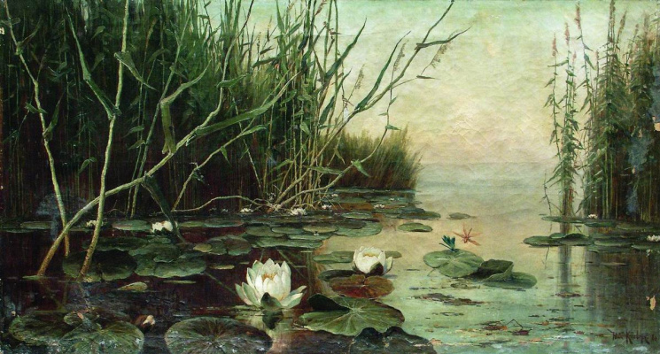 Julius Klever. Lake with water lilies