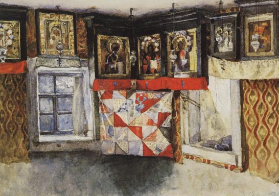 Vasily Ivanovich Surikov. Village Shrine. Etude