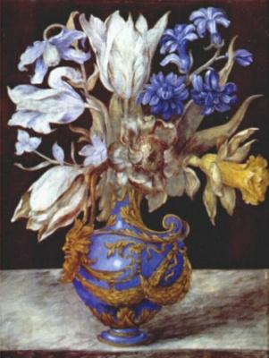 Роберт. Цветы в вазе