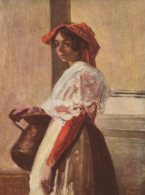 Camille Corot. Italian with a jug