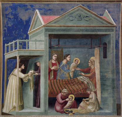 Giotto di Bondone. Birth of the Virgin. Scenes from the Life of the Virgin