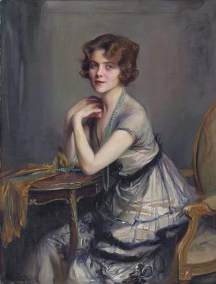 Филип Де Аликсис Ласло. Винни Мелвилл, мисс Дерек Олдхэм.  1920