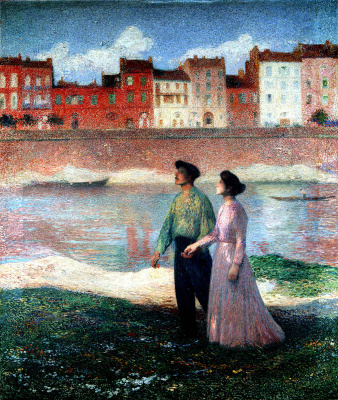 Henri Martin. Lovers man and woman