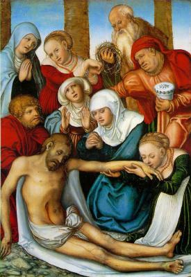 Lucas Cranach the Elder. Lamentation Of Christ