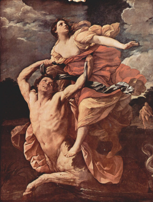 Guido Reni. A cycle of paintings on the themes of Herakles ' myth. Ness and Deianeira