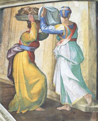 Michelangelo Buonarroti. Judith and Holofernes (detail)