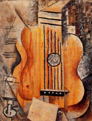 Pablo Picasso. Guitar (I love Eva)