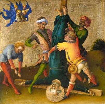 Stefan Lochner. Martyrdom of St. Peter.