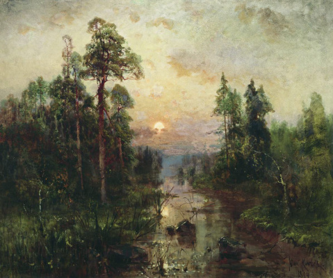 Julius Klever. The evening