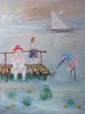 Svyatoslav Ryabkin. Flamingo and frog flamingo and frog