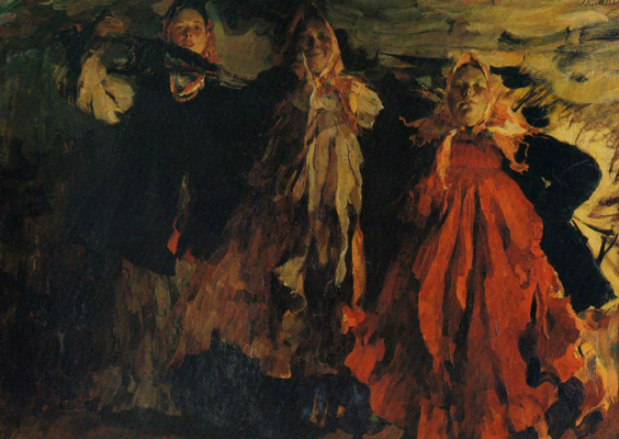 Philip Andreevich Malyavin. Three women