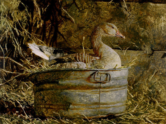 Jamie Wyeth. Goose in the trough