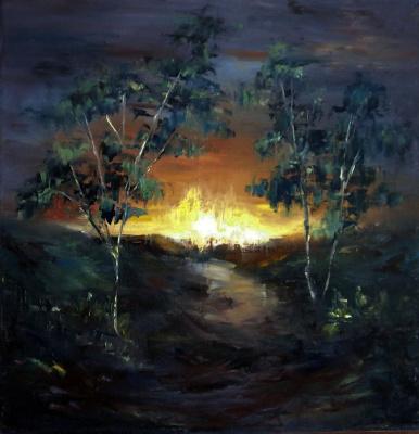 Elena Viktorovna Yudina. Sunset