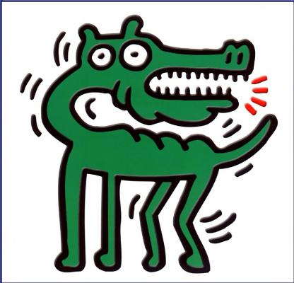Кит Харинг. Крокодил