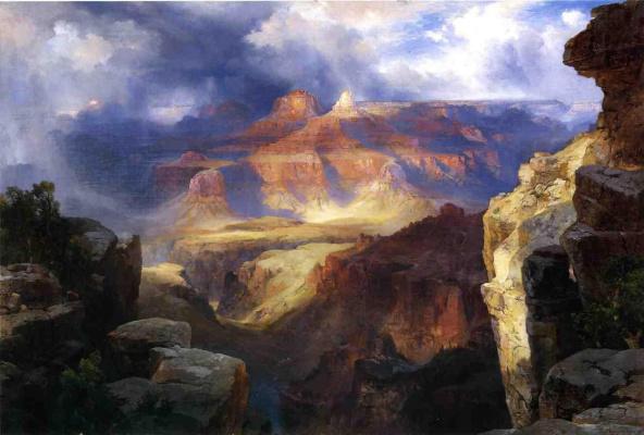 Thomas Moran. Blue sky