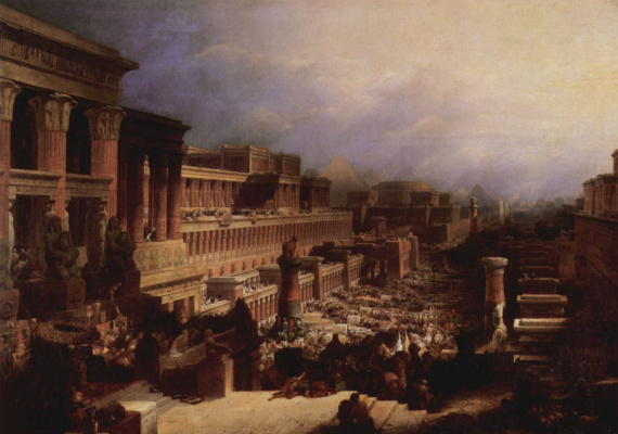 David Roberts. The Exodus of the Jews from Egypt